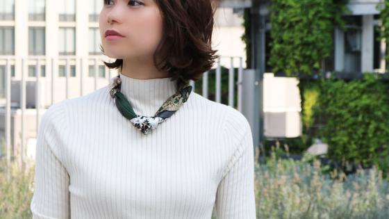 【スカーフ簡単アレンジ術】「ネックレス巻き」で...