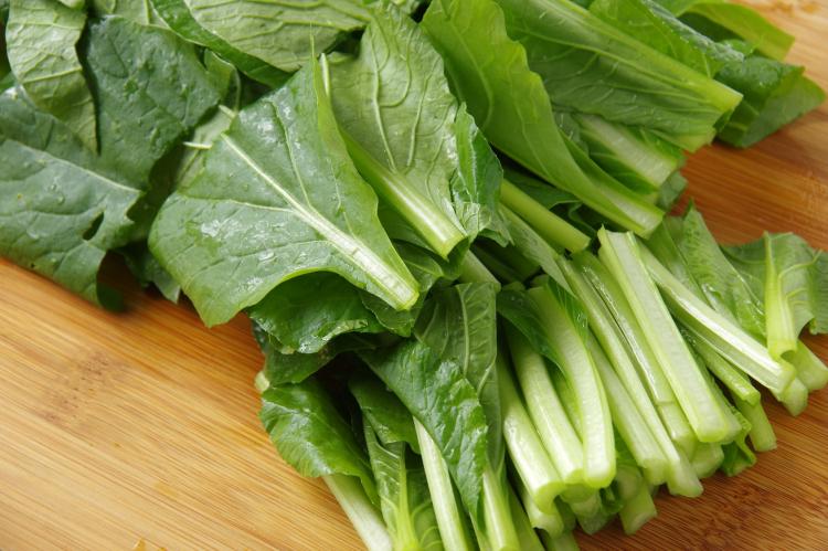 小松菜 生から冷凍