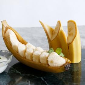 皮を器に!工夫でおしゃれ「バナナのボート」バナナの飾り切り