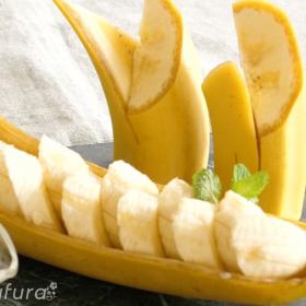 盛り付けも華やかに!「バナナの切り違い」バナナの飾り切り