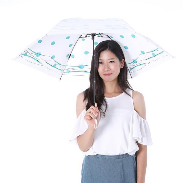 UVION 晴雨兼用折りたたみ傘 プレミアムホワイト