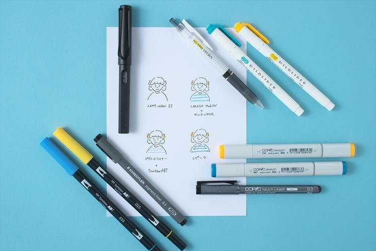 イラスト手紙を華やかに カラーペンの選び方なぞり描きシートで簡単