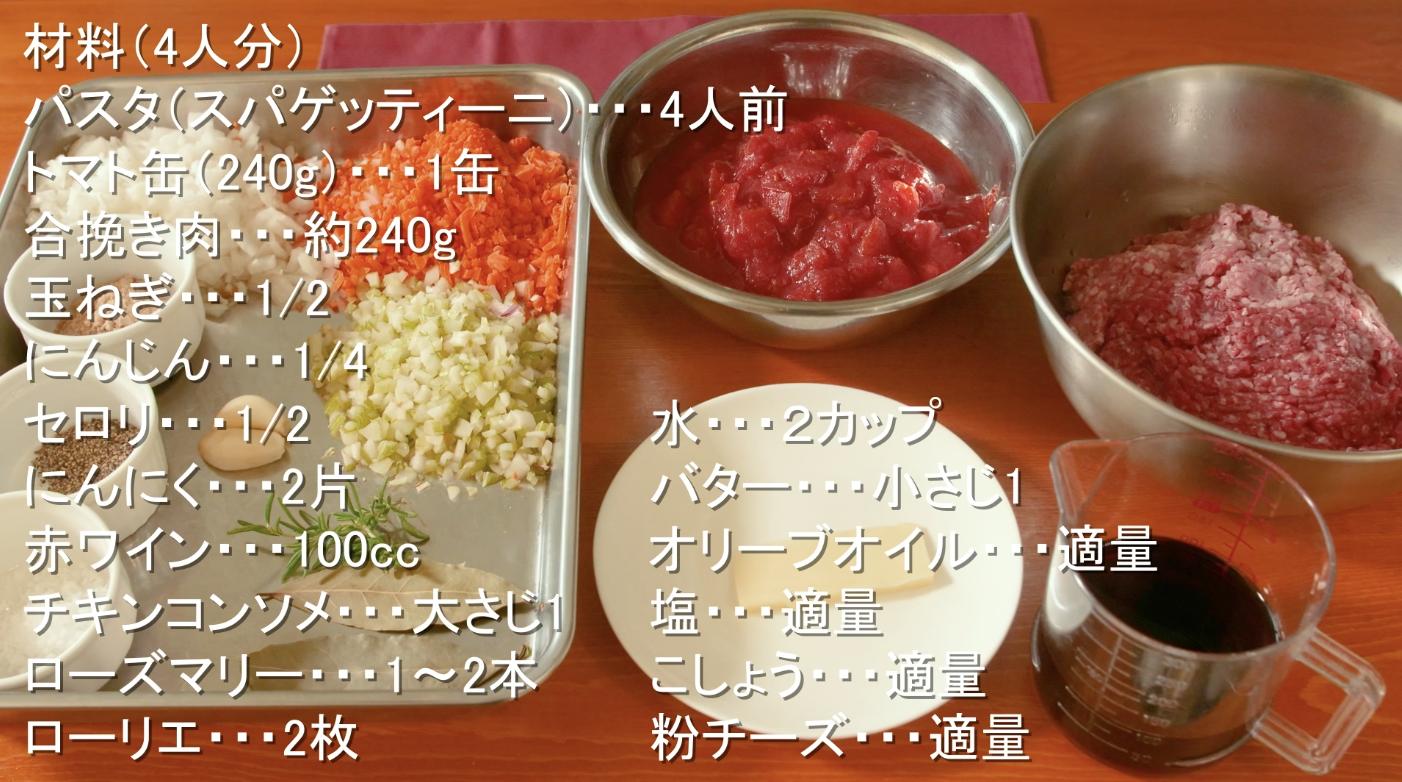 ミートソース レシピ