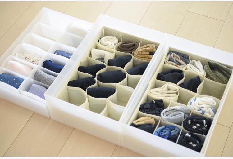 靴下の整理に無印や100均アイテムが大活躍!取り出しやすい