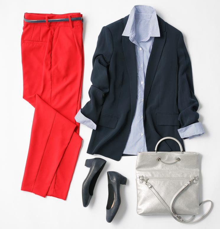 流行りの赤色はボトムスで!この冬、週2で使えるスカート&パンツは?【理論派スタイリスト福田栄華さんのコーデ術】♯3