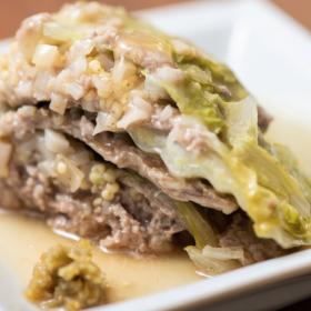 とろ~り餡でご馳走に!ひき肉を使った「白菜と豚肉のミルフィーユ」太らない・もたれない! 松田美智子の真夜中ごはん#13
