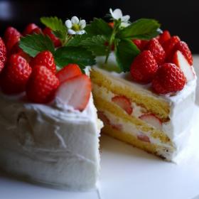 母になった記念日(=娘の誕生日)に、ふたりでケーキを手作り【お米農家のヨメごはん#4】