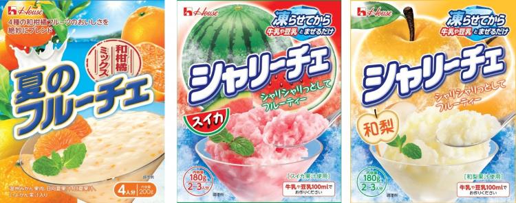 「フルーチェ」と「シャリーチェ」に夏季限定味登場!和柑橘・スイカ・和梨…どの味食べる?