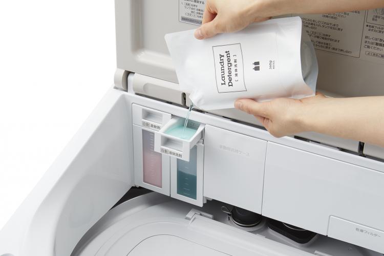タテ型×液体洗剤を自動投入!ズボラさんに優しい縦型洗濯乾燥機がパナソニックから登場
