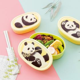 赤ちゃんパンダがだんだん成長!? 入れ子式の「パンダのランチボックスセット」が誕生