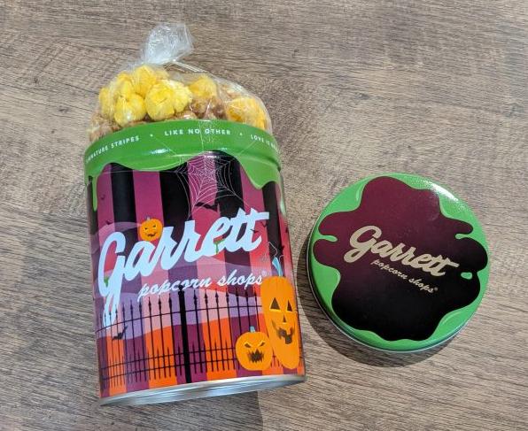 「ギャレット ポップコーン」の秋限定フレーバーを試食!ハロウィン仕様の限定デザイン缶もキュート