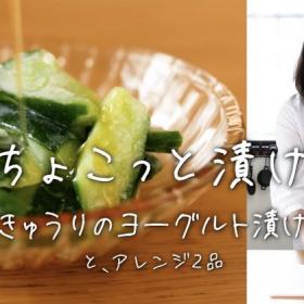 「きゅうりのヨーグルト漬け」しっとり美味しい!ポテサラアレンジも【ちょこっと漬け♯2】