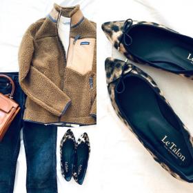 アニマル柄なのに上品なのは「ル タロン」のペタンコ靴!着回しも自在です【働くお母さんの、コレ買って大正解#33】