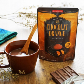 お湯に溶かすだけで簡単!「インスタント ショコラオレンジ」濃厚カカオとオレンジの酸味が絶妙