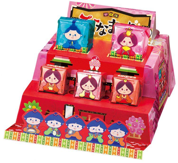 箱を組み立てるとひな壇に!チロルチョコから「ビッグチロル<ひなまつり>」が新登場