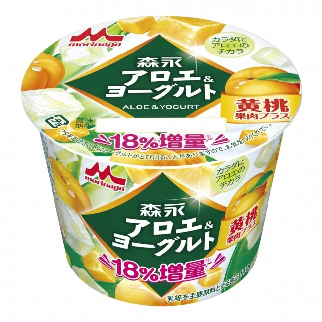 アロエと黄桃をほおばる「森永アロエ&ヨーグルト 黄桃果肉プラス」が期間限定で発売!