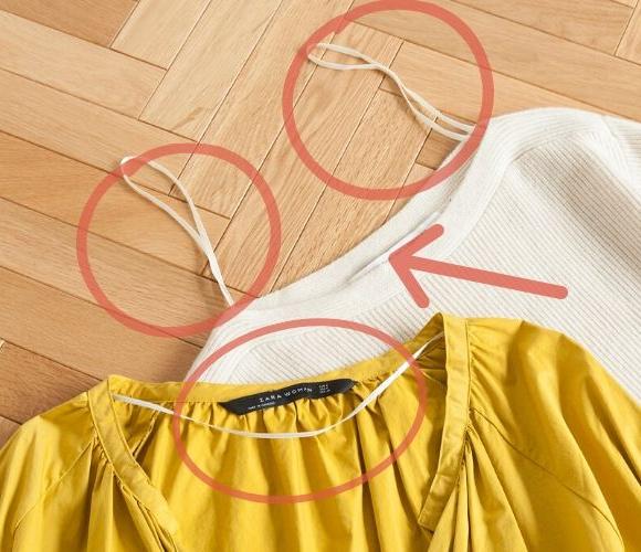 ZARAやユニクロの服に 付いてるこの「細ヒモ」 どうしてますか?