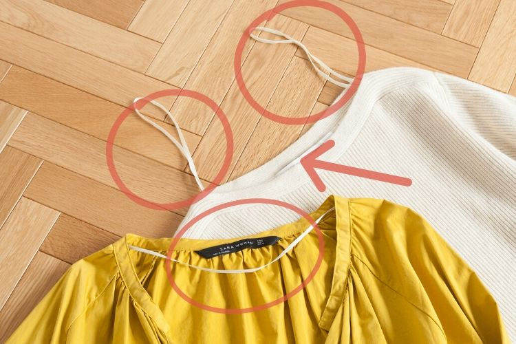 ZARAやユニクロの服に付いてるこの「細ヒモ」どうしてますか?【kufura編集部日誌】