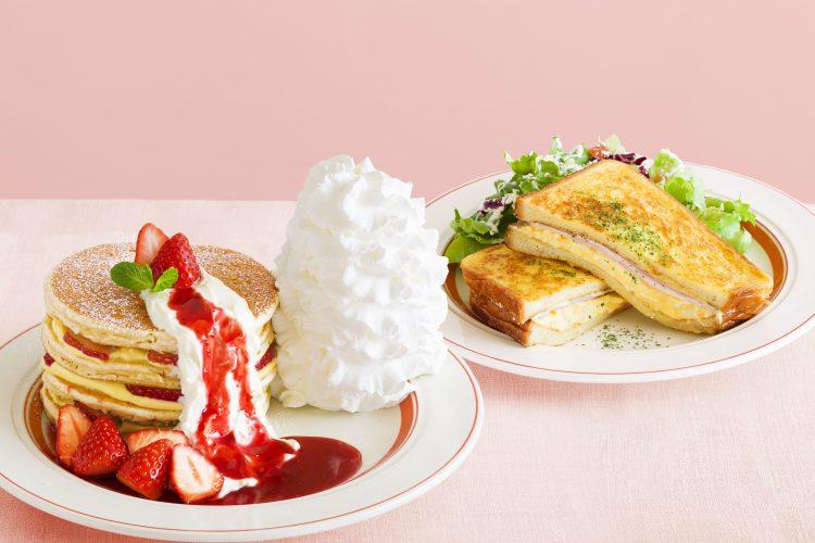 「Eggs 'n Things」より、いちごたっぷりの春パンケーキが期間限定で登場!
