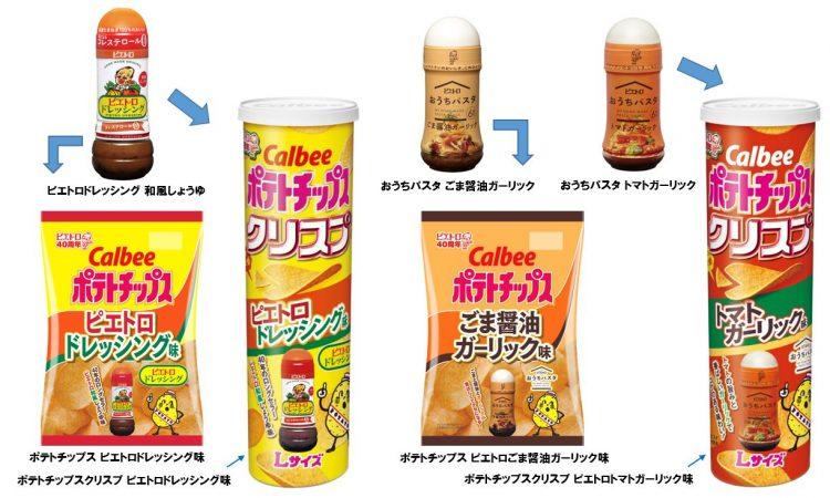 カルビー×ピエトロの初コラボ!ポテトチップス4品が3月9日から期間限定発売