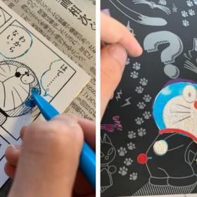 子どもの集中力が続く!「ドラえもん」のスクラッチアートよ、ありがとう【kufura編集部日誌】