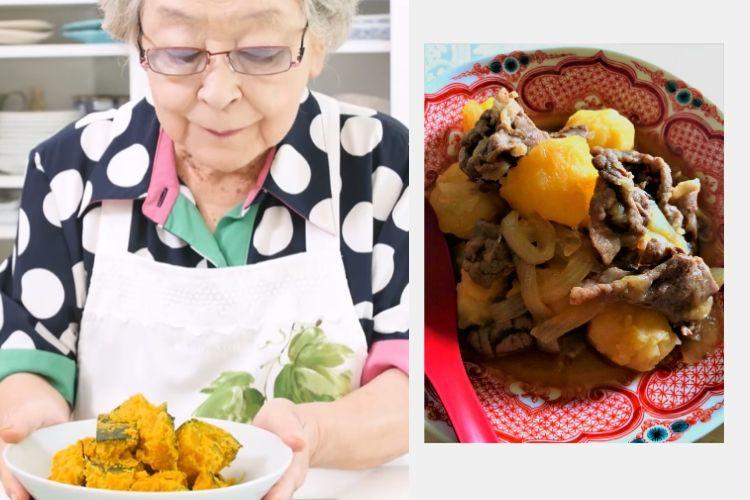 【ばぁばのおこもりごはん】「おふくろの肉じゃが」と煮物2品…95歳の料理研究家・鈴木登紀子さんのレシピ