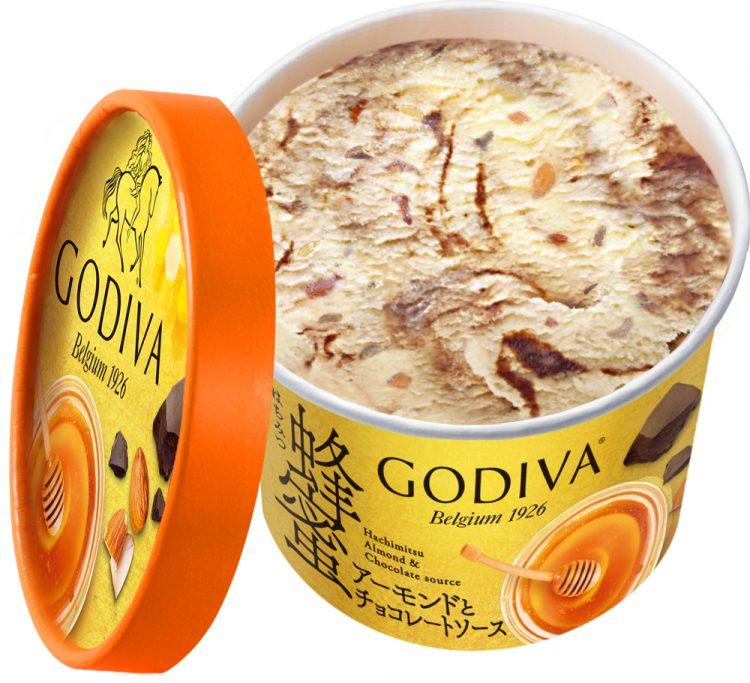 ゴディバのご褒美カップアイス「蜂蜜アーモンドとチョコレートソース」セブン-イレブンにて発売