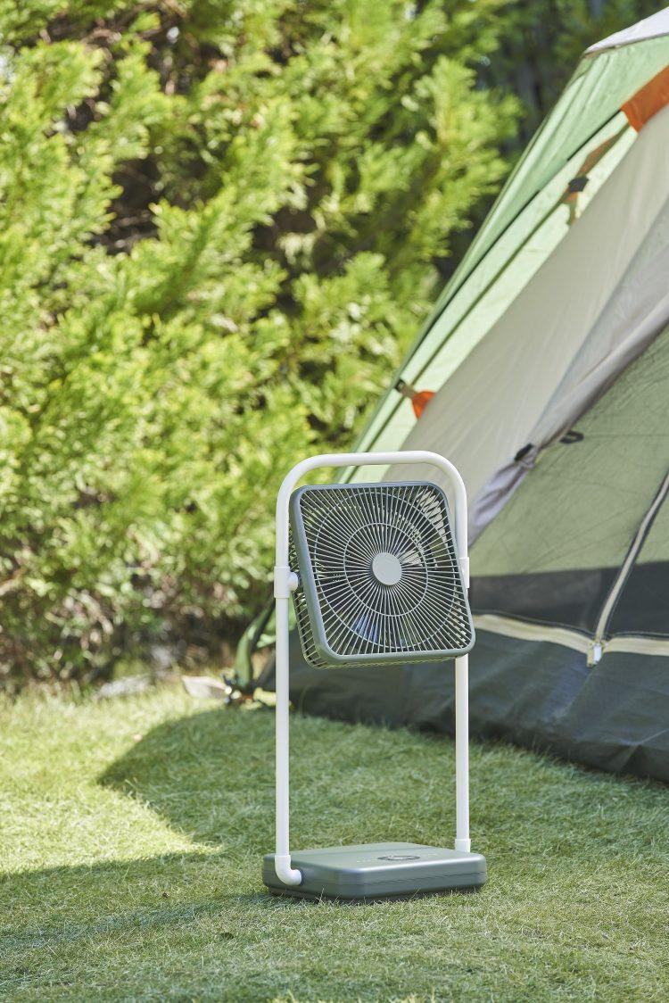 コードレス&折り畳めるからどこでも使える!「こうだったらいいのに」を叶えたユニーク扇風機