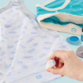 小さな子どもの「お洋服の前どっち?」「自分でやりたい!」をスタンプでサポート!「お着替えできるポン」新発売