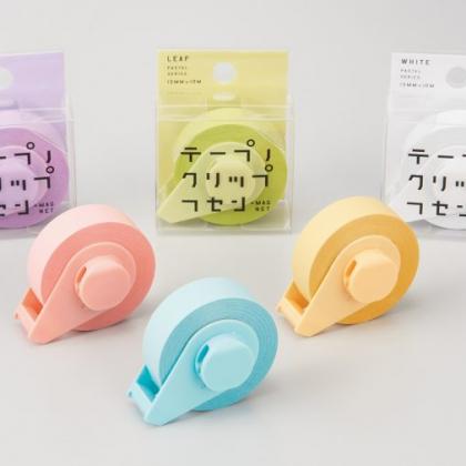 カッター付テープ型フセンに、磁石とクリップがプラスでより便利に!「テープノクリップフセン」が新登場