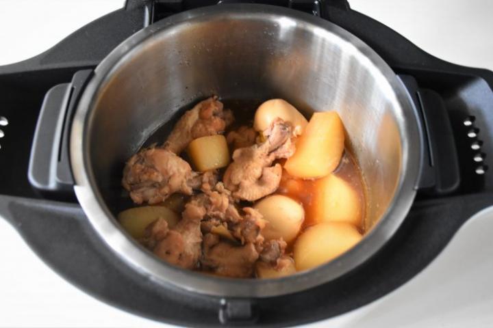 ホットクック 鶏手羽と大根の煮込み