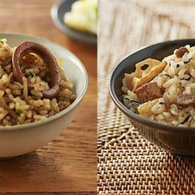無印良品の「炊き込みごはんの素」シリーズに、「いかと生姜のごはん」「沖縄風豚角煮ごはん」が新登場!