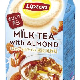 アーモンドミルクの香ばしさ薫る「リプトン ミルクティーwithアーモンド」新発売