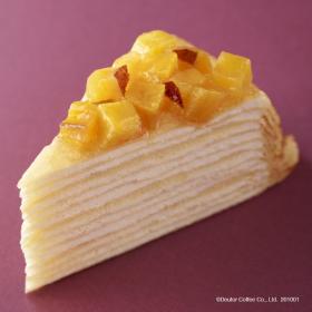 10/1発売のドトール秋の新作は、カスタードとお芋のまろやかハーモニーが楽しめる「安納芋のミルクレープ」