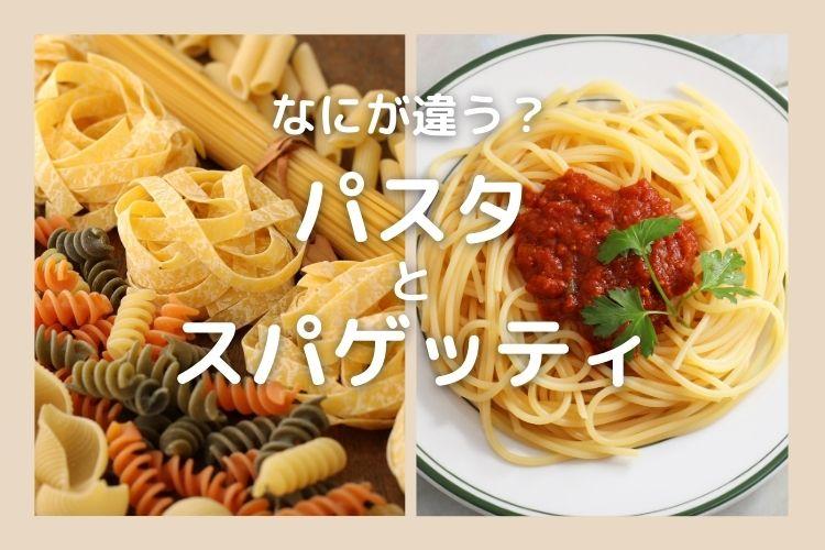 知って納得!「パスタ」と「スパゲッティ」なにが違う?【食べ物の違い豆知識】