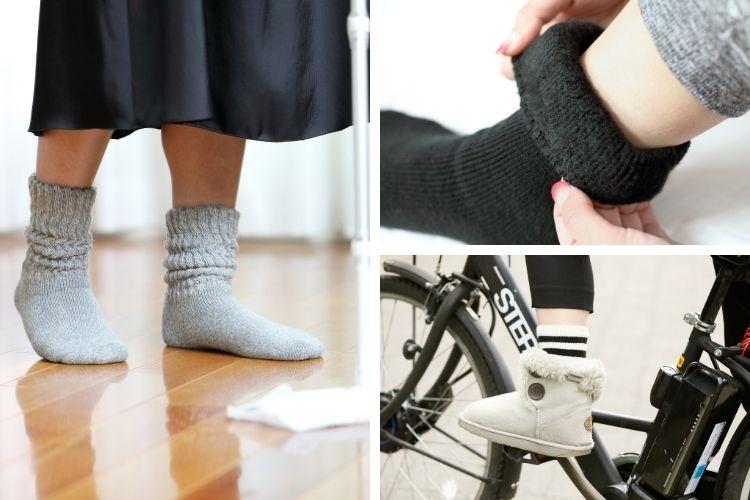 「まるで毛布を履いてるみたい!」コスパも暖かさも最強と話題の靴下、 履いてみたら …