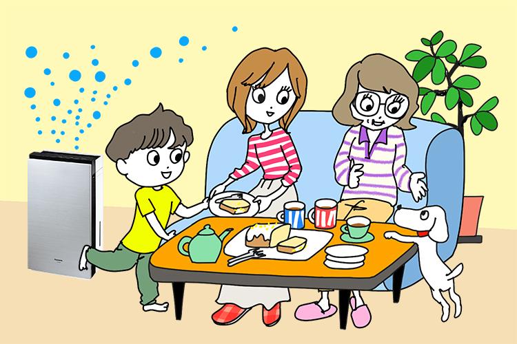 家族と過ごす部屋づくりのために…話題の「次亜塩素酸で除菌・ウイルス抑制できる家電」のギモンを解決!