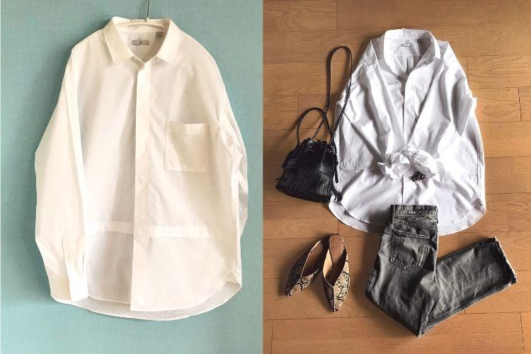 今から買えるユニクロ+J 。メンズのオーバーサイズシャツで女っぽさを纏う【本日のお気に入り】