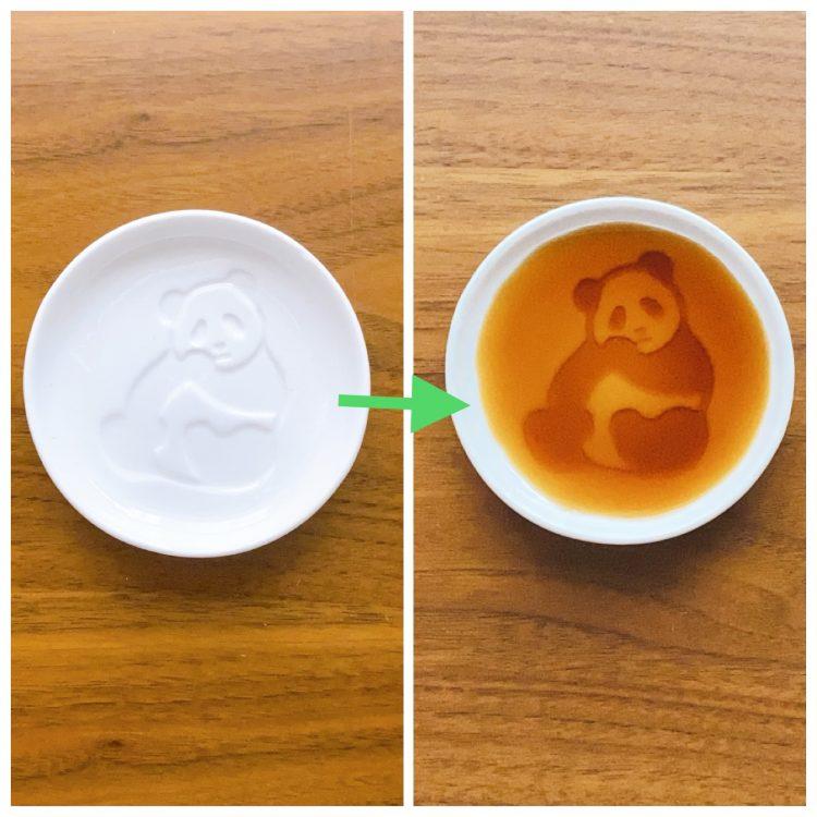 醤油を注ぐとパンダが浮かび上がる!パンダ醤油皿【本日のお気に入り】