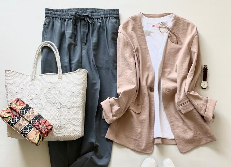 「ロペピクニック」の洗えるジャケット(7,700円)はカーディガン気分で着たい!【4ケタアイテムで叶えるオシャレvol.8】
