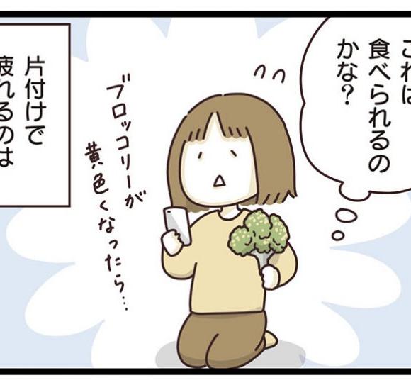 【コミック】冷蔵庫の片付けは 「コレまだ大丈夫?」と 仕分ける作業が、疲れるのだなぁ