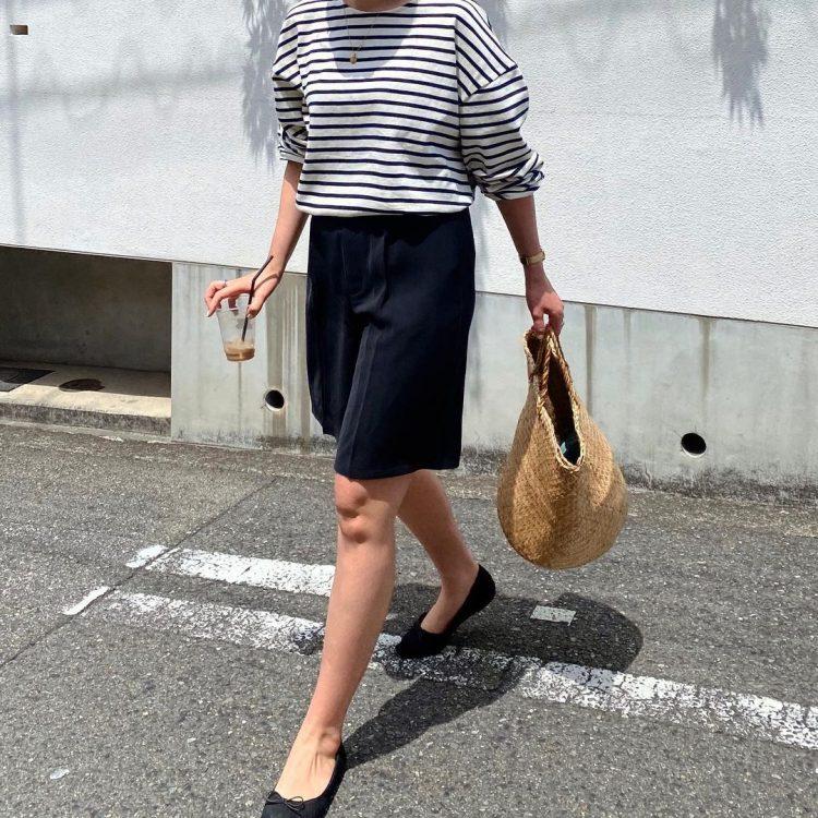 GUの「バミューダパンツ」も!ハーフパンツなのに大人っぽい着こなしを調査【kufuraファッション調査隊】
