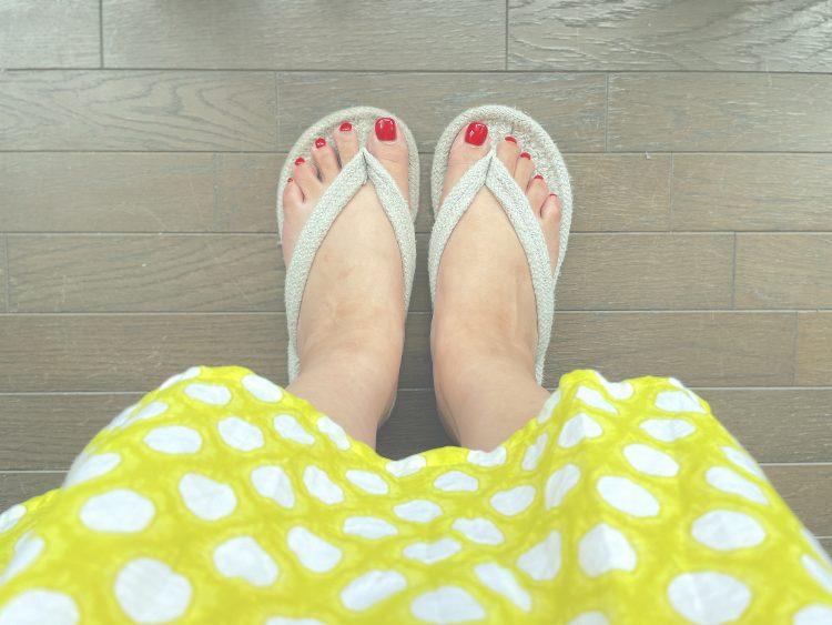 洗える!「無印良品のルームサンダル(599円)」が梅雨どき、夏のフローリングに快適です【本日のお気に入り】