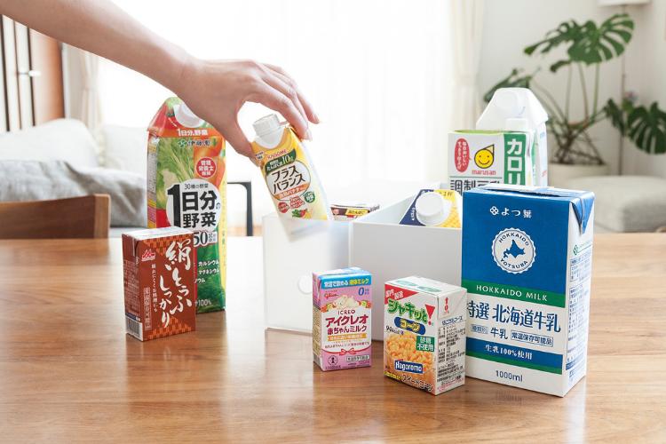 牛乳に豆腐も!「常温保存できるロングライフ紙パック」がとにかく便利!防災の備えにも