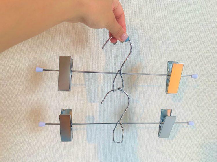 KEYUCAの連結できるハンガーでスカート収納をコンパクトに!【本日のお気に入り】