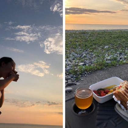 家族で海辺を夕暮れ散歩。こんなサンドイッチをお供に、最高の贅沢【お米農家のヨメごはん#59】