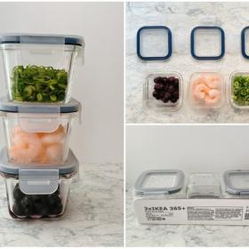 食材の少量保存に便利!3個で499円とコスパ良し「IKEA」のガラス製保存容器【本日のお気に入り】