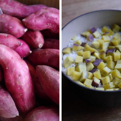 農家から直送のサツマイモ。娘(12歳)が大好きなこんな食べ方で【お米農家のヨメごはん#63】